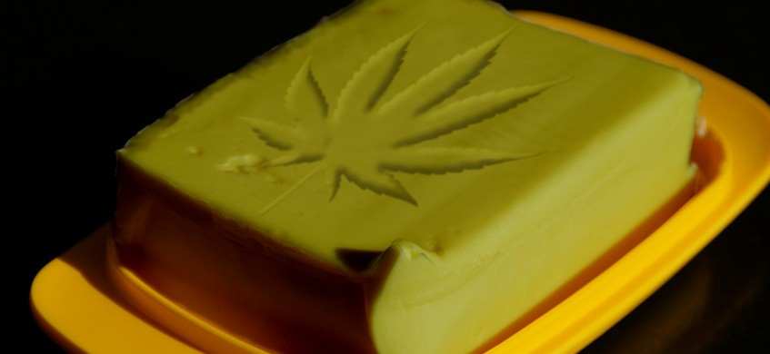 Solidified cannabutter