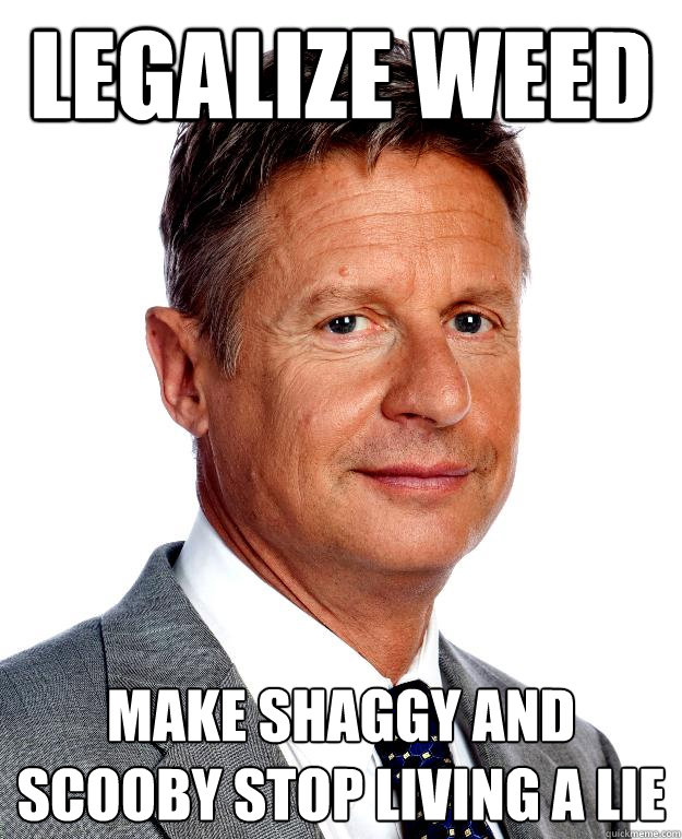 Gary Johnson Legalize It For Scooby And Shaggy