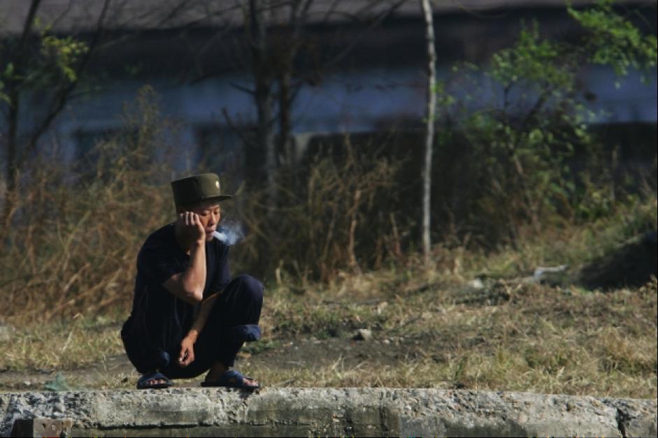 North Korean Cannabis Smoker
