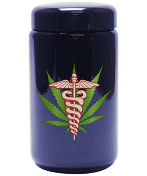 Buy 420 Science UV Stash Jar Medical Leaf X-Large