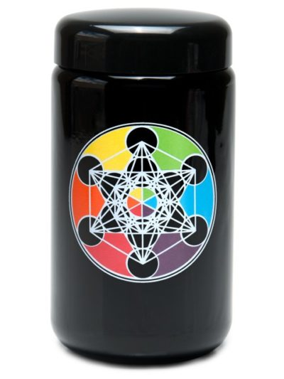 Buy 420 UV Stash Jar Metatron's Cube X-Large