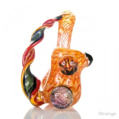 Buy Helio Coil Sherlock With Dichroic Appendage By Amsterdam Glassworx Orange