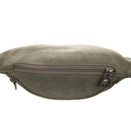 Buy Sativa Hemp Bum Bag Khaki Top Down