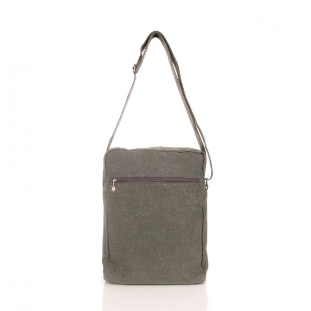 Buy Sativa Hemp Large A4 Shoulder Bag Grey