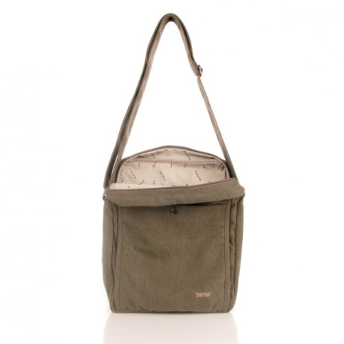 Buy Sativa Hemp Large A4 Shoulder Bag Kahki