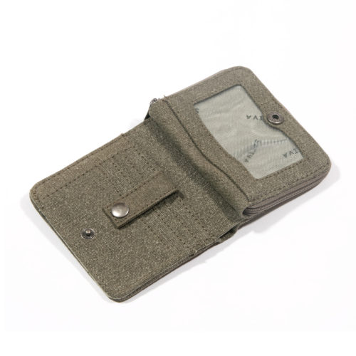 Buy Sativa hemp Wallet Khaki Open