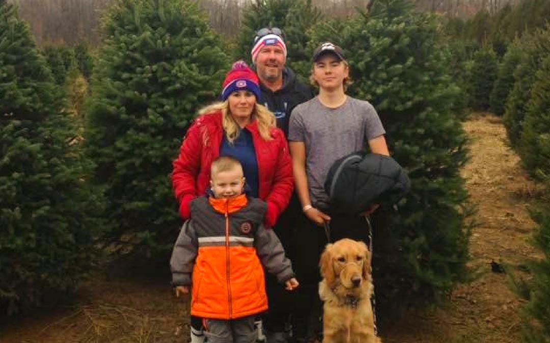Logan Cruickshank and Family